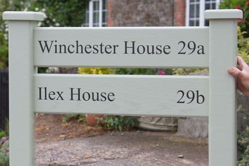 Ladder Sign With 2 Panels and Posts| The Sign Maker Shop